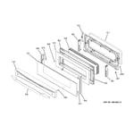 GE PB970KM1CC upper door diagram