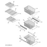 GE CSHS5UGXBSS freezer shelves diagram