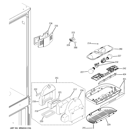 GE PDCF1NBXAWW fresh food section diagram