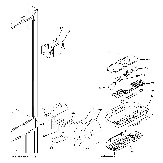 GE PDSF5NBXAWW fresh food section diagram