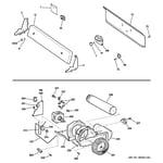 Hotpoint NVLR223EH3WO backsplash, blower & motor diagram