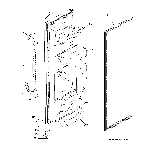 GE GSS22JETFBB fresh food door diagram