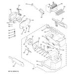 GE PSDW3YGXBFSS ice maker & dispenser diagram