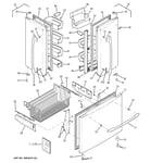 GE PFCF1NFXBWW doors diagram