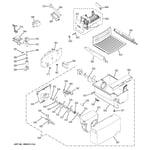 GE ESH22JFXAWW ice maker & dispenser diagram