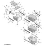 GE PSJC5YGXCFWV freezer shelves diagram