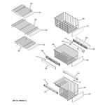 GE PSI23MGWABV freezer shelves diagram