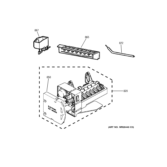 GE DTS18ICSXRWW ice maker diagram