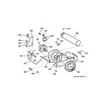 GE DCVH680EJ1WW blower & motor diagram