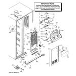 GE GSHF9NGYACBB freezer section diagram