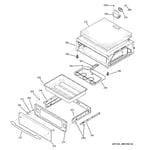 GE PB910DP1BB warming drawer diagram
