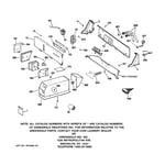 GE WMCD2050J1WC backsplash & coin box assembly diagram