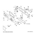 GE WWSE5240G3WW controls & backsplash diagram