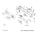 GE WCSR2090G6CC controls & backsplash diagram