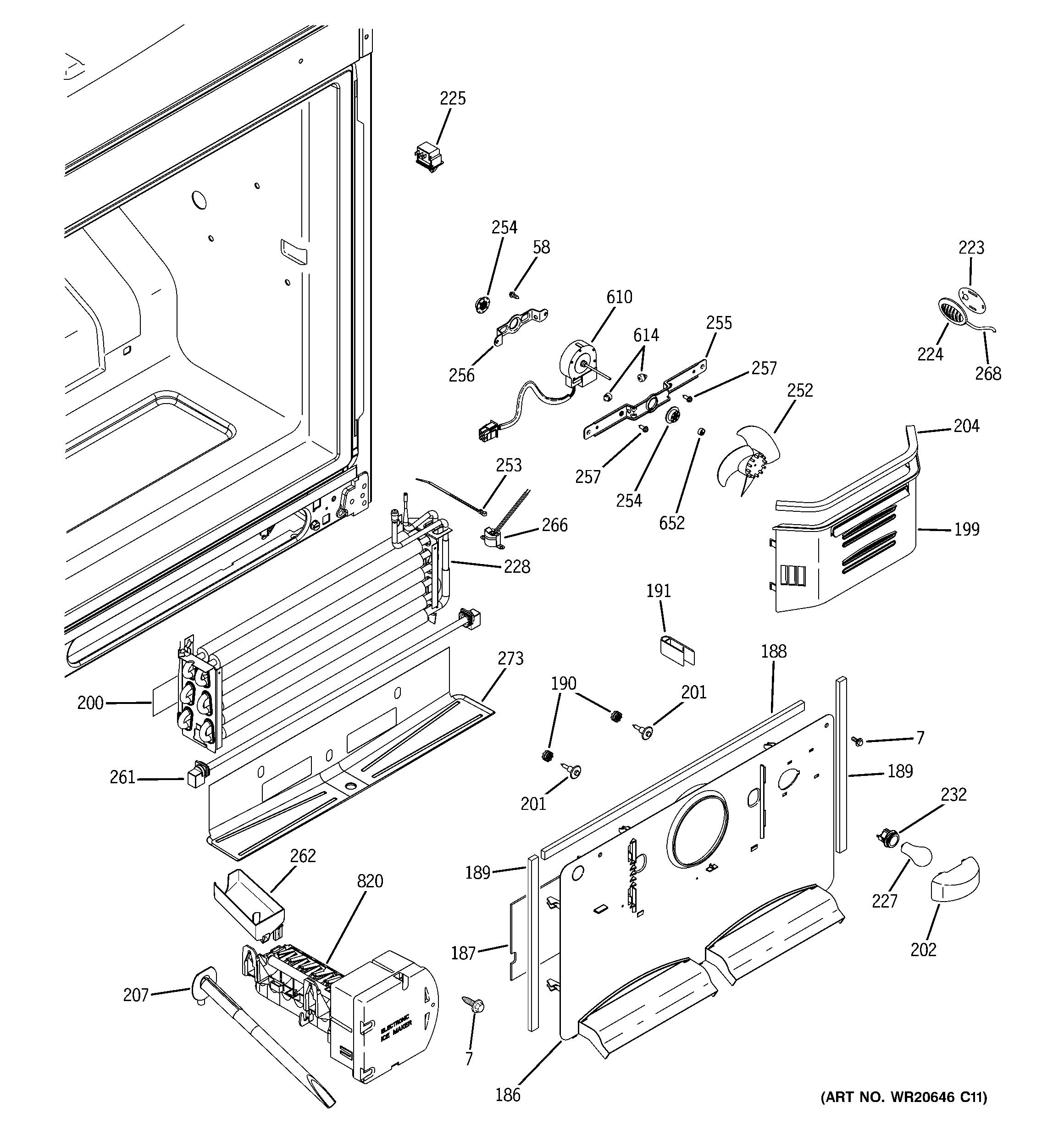 Ge  Bottom Mount Refrigerator  Freezer section