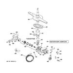 GE GSD3360R00SS motor-pump mechanism diagram