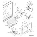 GE PFSF2MJYABB freezer section diagram