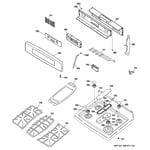 GE PGB916DEM4BB control panel & cooktop diagram