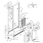 GE GSS20IBTNWW freezer section diagram