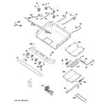 GE JGBP87SEM3SS gas & burner parts diagram