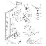 GE GCE23LGWIFBB fresh food section diagram