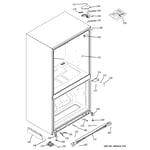 GE PDSF5NBWAWW case parts diagram