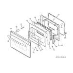 GE PD968DP1BB door diagram