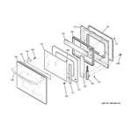 GE JCKS10WM2WW door diagram