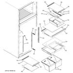 GE GTK18IBXCRBS fresh food shelves diagram