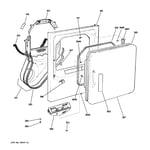 GE DDC4400SMMWH front panel & door diagram