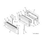 GE JB850SP1SS upper door diagram