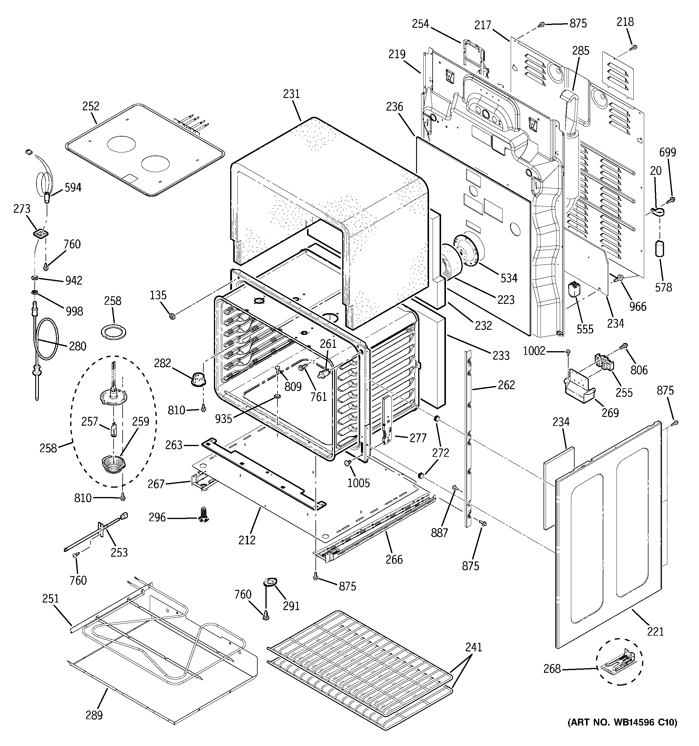 GE PB976SN1SS lower oven diagram