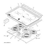 GE PD968SP1SS cooktop diagram
