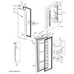 GE GFSS6KIXCSS fresh food doors diagram