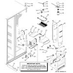 GE PHE25TGXBFBB fresh food section diagram