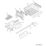 GE PFIC1NFZABV freezer shelves diagram