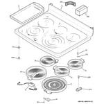 GE PB978DP4BB cooktop diagram