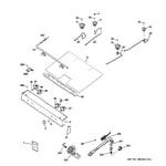 GE JGBS24GEM5SS gas & burner parts diagram
