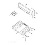 GE JGBS07PEA3WW cooktop diagram