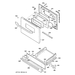 GE JGBS07PEA3WW door & drawer parts diagram