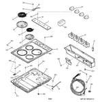 GE JP326CV2BC cooktop diagram