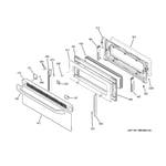 GE JB870DR1BB upper door diagram