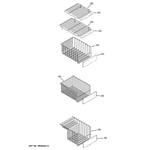 GE PSSF3RGXCWW freezer shelves diagram