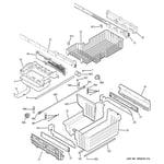 GE PGCS1NFZASS freezer shelves diagram