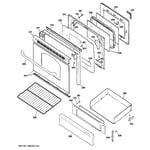 GE JGB281MER3BS door & drawer parts diagram
