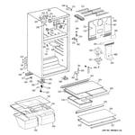 GE GTS18GBSERWW cabinet diagram