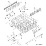 GE GLD6964R30SS upper rack assembly diagram