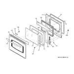 GE JKP55SM1SS door diagram