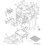 GE JBP23DR2WW body parts diagram