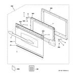 GE SCB1000MWW001 door parts diagram